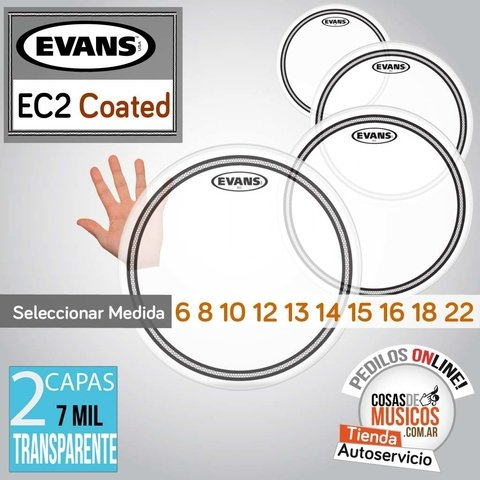 Parches EVANS EC2 Coated x Medida