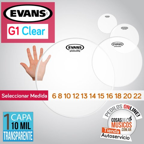 Parche Evans G1 Clear x Medida