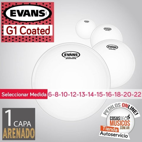 Parches EVANS G1 Coated x Medida