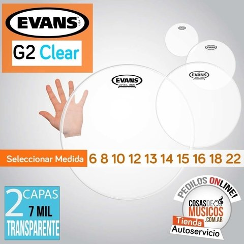 Parche EVANS G2 Clear x Medida