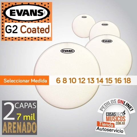 Parches EVANS G2 Coated x Medida