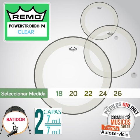 Parche REMO Powerstroke 4 Clear x Medida
