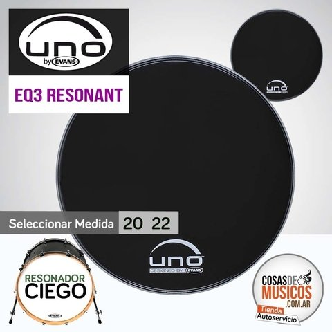 PARCHE UNO by Evans EQ3 Resonant Black x Medida