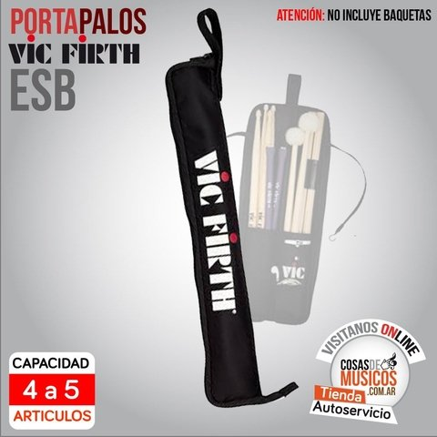 Portabaquetas VIC FIRTH Essentials Stick Bag ESB