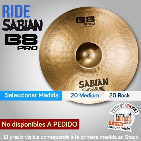 Ride Medium Sabian B8 PRO x Medida
