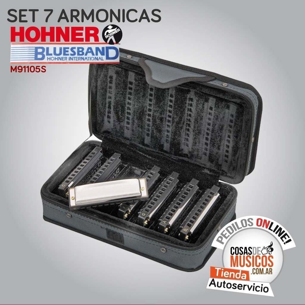 Set de 7 Armonicas Hohner Bluesband
