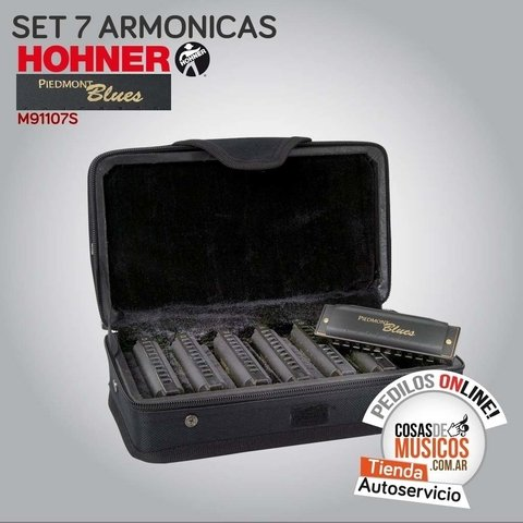 Set de 7 Armonicas Hohner Piedmont Blues