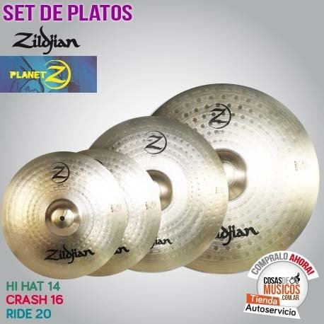SET DE PLATOS ZILDJIAN PLANET Z PLZ4PK
