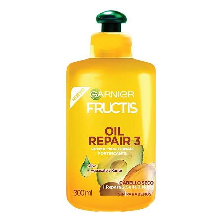 GARNIER FRUCTIS OIL REPAIR 3 CREMA PARA PEINAR 300 ML