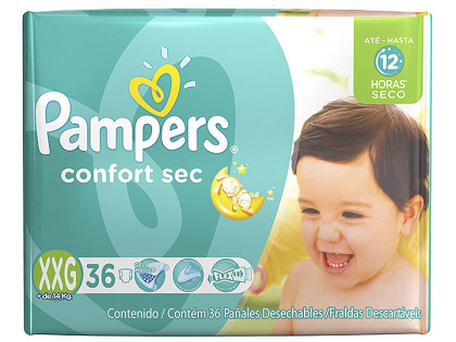 PAMPERS CONFORT SEC EXTRA EXTRA GRANDE