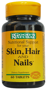 NATURAL LIFE SKIN. HAIR AND NAILS X 60 TABLETAS