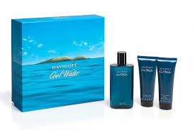DAVIDOFF COOL WATER MEN EDT  125ML + SH + AFTER SHAVE