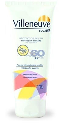 VILLENEUVE PROTECCION SOLAR BABY F60 X 120ML