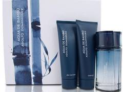 ADOLFO DOMINGUEZ AGUA BAMBU MEN EDT SET FRAGANCIA + AFTER + SHOWER GEL