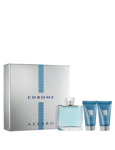 AZZARO CHROME SET FRAGANIA + SHOWER GEL + AFTER SHAVE