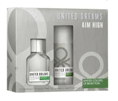 BENETTON UNITED DREAMS AIM HIGH SET FRAGANCIA + DESODORANTE