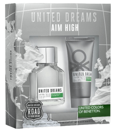 BENETTON UNITED DREAMS AIM HIGH SET FRAGANCIA + AFTER SHAVE