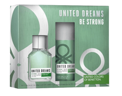 BENETTON UNITED DREAMS BE STRONG SET FRAGANCIA + DESODORANTE