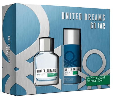 BENETTON UNITED DREAMS GO FAR SET FRAGANCIA + DESODORANTE