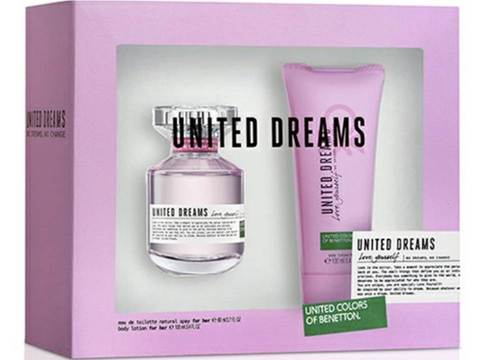BENETTON UNITED DREAMS LOVE EAU DE TOILETTE 80 ML + CREMA 100 ML