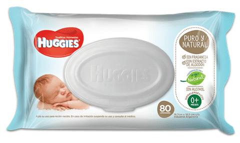 HUGGIES PURO Y NATURAL TOALLAS HUMEDAS
