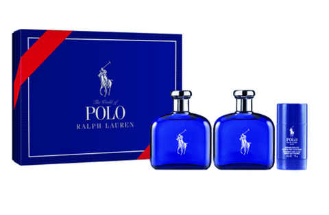 RALPH LAUREN POLO BLUE SET FRAGANCIA + AFTER SHAVE + DESODORANTE