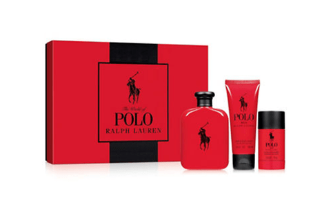 RALPH LAUREN POLO RED SET FRAGANCIA + AFTER SHAVE + DESODORANTE