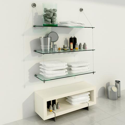 Compr online productos en temacasa filtrado por for Estantes vidrio bano