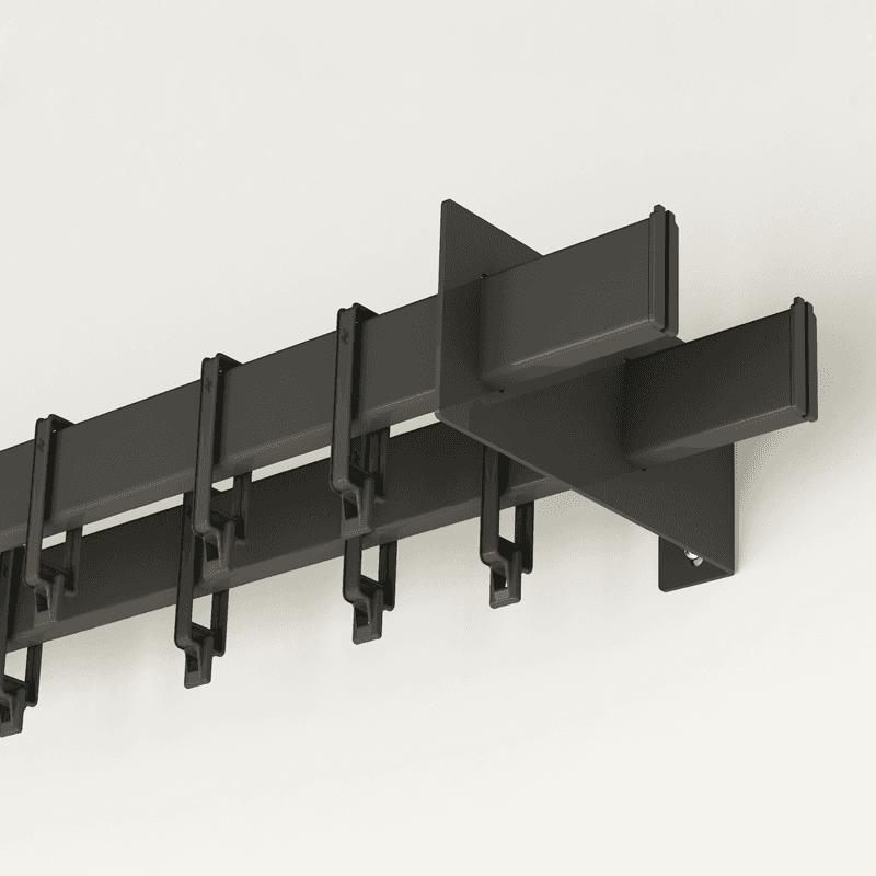 Barral de cortina rectangular doble de 3mts con 60 ganchitos - Soporte doble cortina ...