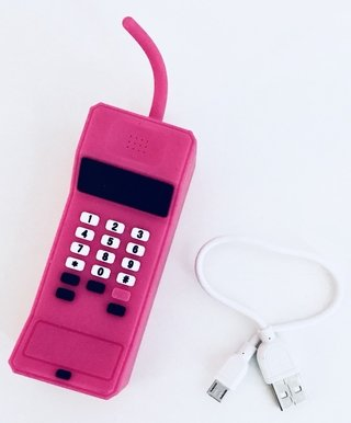Cargador Portatil retro phone