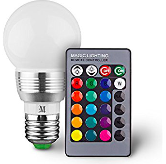 Lampara Led colores con Control