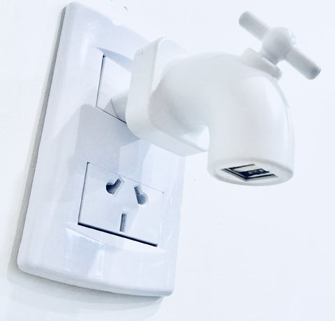 Cargador 2 usb de Pared Canilla