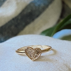 Anillo golden heart