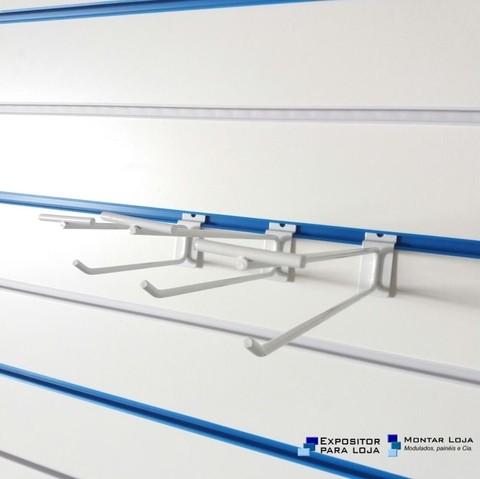 Gancho Porta Preço Duplo Painel Canaletado Branco 15cm, 20cm e 25cm da979caea6