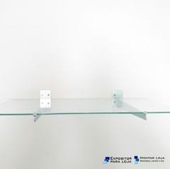 1 Prateleira vidro 4mm PAREDE + 2 suport...
