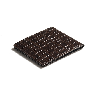 BILLETERA PLEGABLE CROCO MARRON