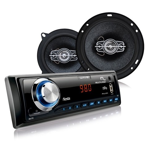 Kit Automotivo Multilaser- Mp3 + 2 Alto Falantes 6 + 2 Alto Falante 5 - AU951