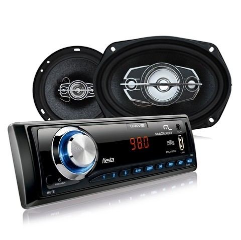 Kit Automotivo Multilaser- Mp3 + 2 Alto Falantes 6 + 2 Alto Falantes 6X9 - AU952