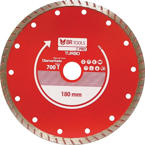 DISCO DIAMANTADO TURBO 180MM 700T BR TOOLS