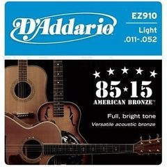 Corda para Violao D`addario Ez-910 Light 011-052 Made in USA 100% Original