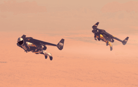 Jetman voa no céu de Dubai com Young Feathers