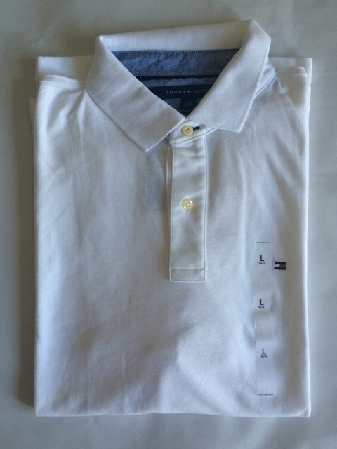 Camiseta Polo Tommy Hilfiger Masc. Branca Classic Fit