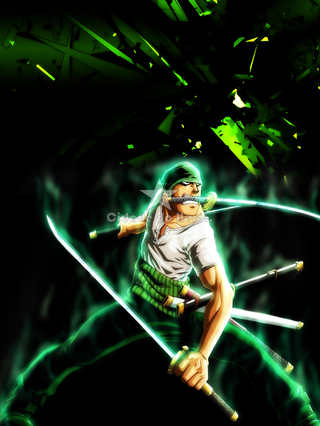 Camiseta Roronoa Zoro - One Piece na internet