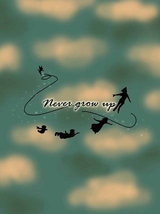 Camiseta Never grow up - Peter Pan - comprar online