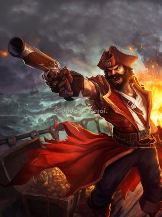 Camiseta League of Legends Gangplank na internet