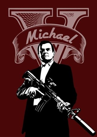 Camiseta GTA5 Michael na internet