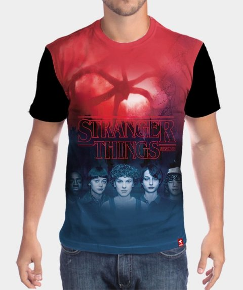 camiseta stranger things 2 temporada masculina