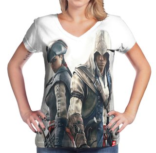 Camiseta Assassin's Aveline e Connor - comprar online