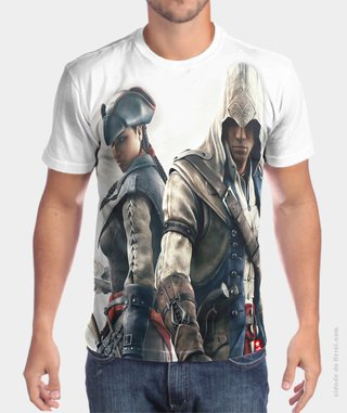 Camiseta Assassin's Aveline e Connor