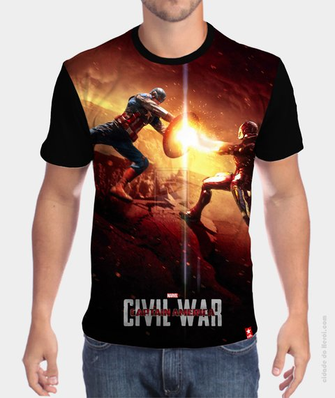 Camiseta Confronto - Guerra Civil